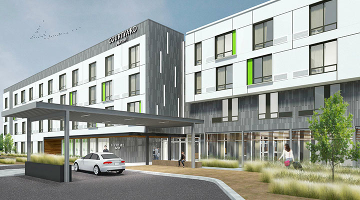 Courtyard Marriott hotel rendering